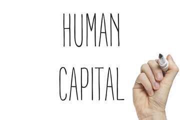 Hand writing human capital