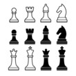 Chess Pieces Including King Queen Rook Pawn Knight and Bishop. - 67955552