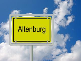 Altenburg - Ortsschild