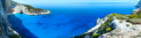 Navagio beach panorama (Zakynthos, Greece) - 67956175