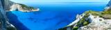 Fototapety Navagio beach panorama (Zakynthos, Greece)