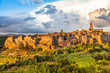 Medieval town of Pitigliano at sunset, Tuscany, Italy