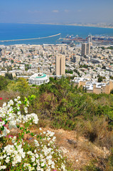 View to israeli city of Haifa.