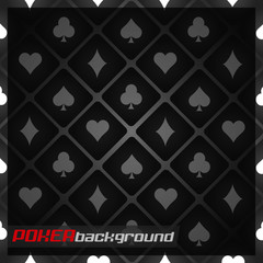 Poker background with cards symbol