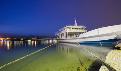 Ferry in Perama.Greece.