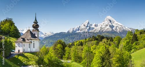 In de dag Alpen Nationalpark Berchtesgadener Land, Bavaria, Germany