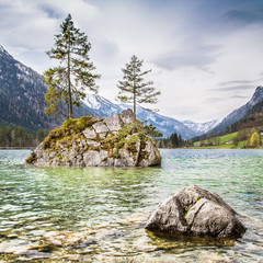Idyllic lake Hintersee, Bavaria, Germany