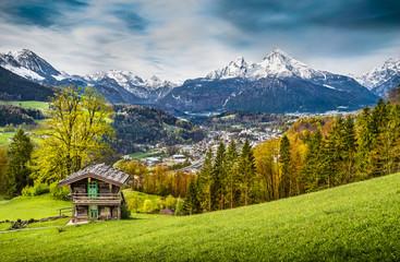 Idyllic mountain landscape in Berchtesgaden, Bavaria, Germany