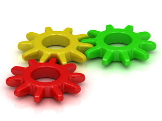 Green, yellow and red gears in one join