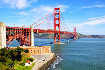 Golden Gate Bridge and Fort Point, San Francisco, US