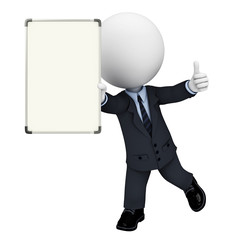 Business Man with display board