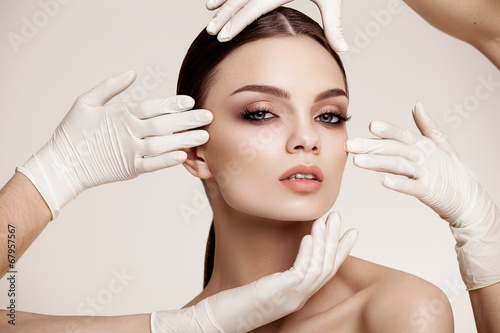 Beautiful  Woman before Plastic Surgery Operation Cosmetology. B - 67957567