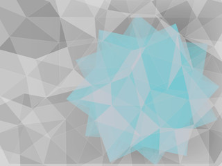 blue star geometric abstract background