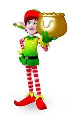 Elves character with golden pot