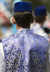 tatar adult man from behind