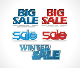 Big sale - winter sale vector