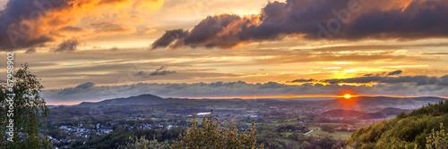 Leinwandbild Motiv romantic sunset in Sankt Wendel