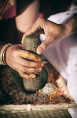 indian wedding ritual haldi