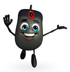 Computer Mouse Character with happy pose