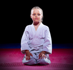 Little girl aikido fighter