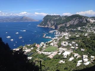 Isla de Capri desde las alturas