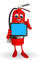 Fire Extinguisher character with tab