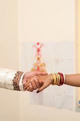 wedding promising couple hand