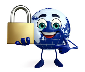 Globe Character with lock