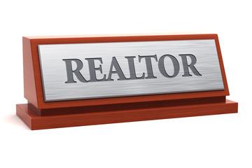 Realtor job title on nameplate