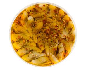 canned herring in oil