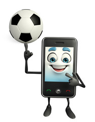 Mobile character with football