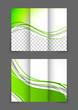Tri-fold green wave brochure