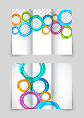 Trifold circles colorful brochure
