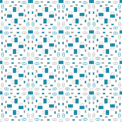 Seamless pattern with stationery, clips, thumbtacks