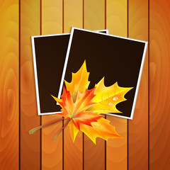Framework for a photo with place for your image decorated autumn