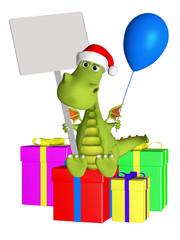 Dragon with christmas gifts