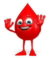 Blood Drop Character with stop pose
