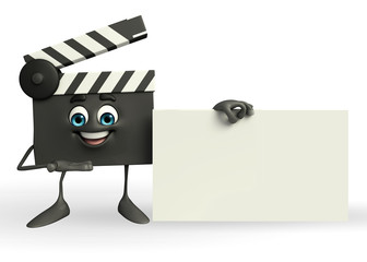 Clapper Board Character with sign