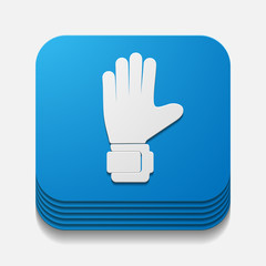 square button: gloves