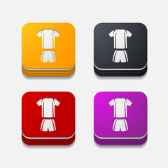 square button: Football clothing