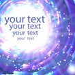 Abstract shimmering background in blue colors with place for you