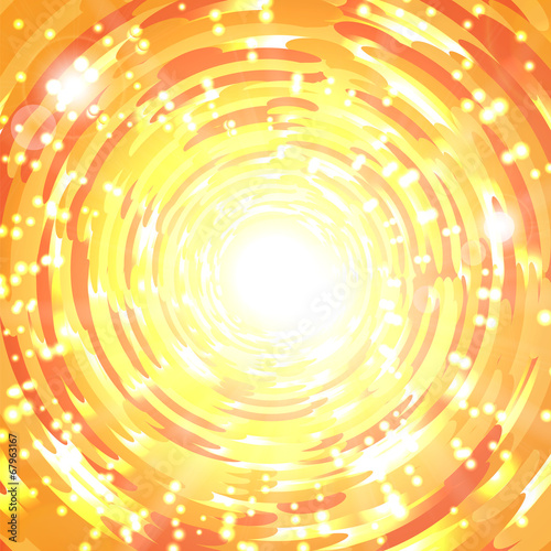 Abstract shimmering orange background