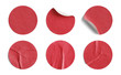 Red Round Stickers - 67963380