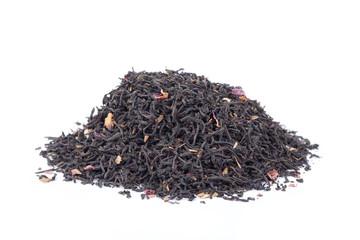Black tea isolated on white