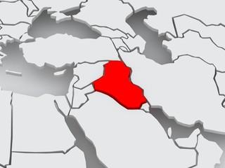 Map of worlds. Iraq.