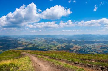 Trail near the high mountains.