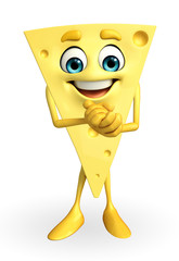 Cheese Character with happy pose
