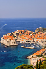 Spectacular picturesque gorgeous view on  Dubrovnik, Croatia