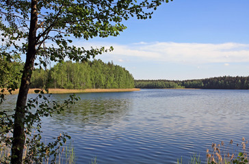 Lake at national park in Belarus