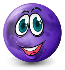 A ball with a smiling face